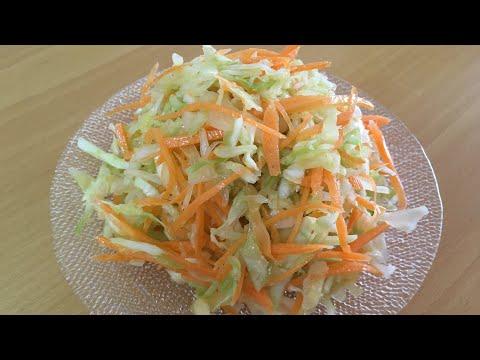 Oddiy karom va sabzili salat/Простой салат из капусты и маркови