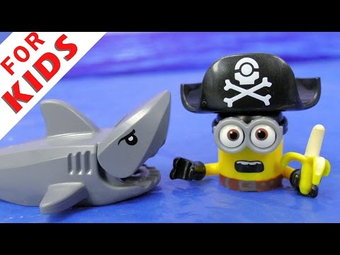 Funny toys meet pirates they find treasure and banana