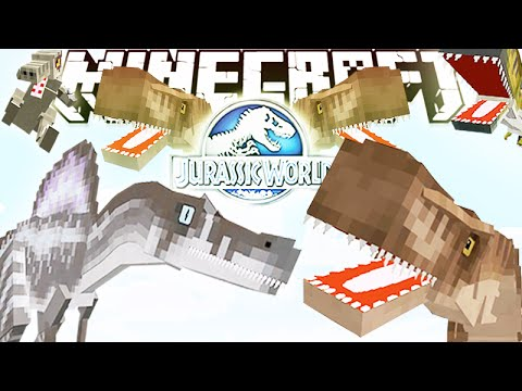 MineCraft 1.8.8 Jurassic World 2.0 MOD REVIEW! NEW DINOS. ANIMATION & MORE! (1.8.8 MOD)