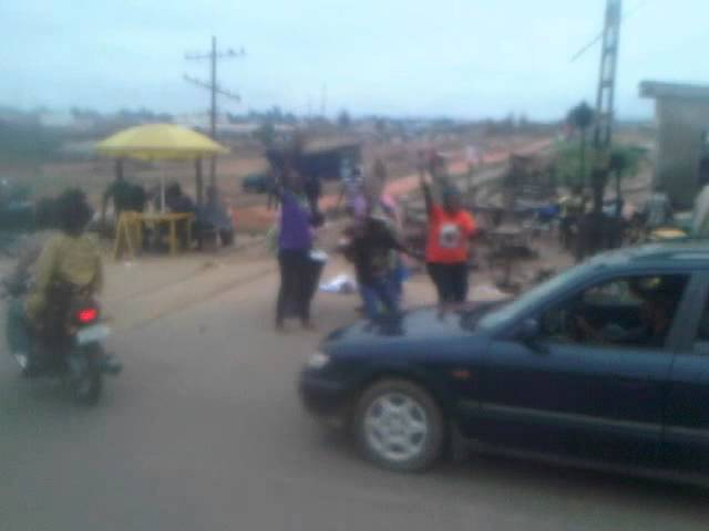 APC supporters rejoicing to the victory of Aregbesola in Osogbo