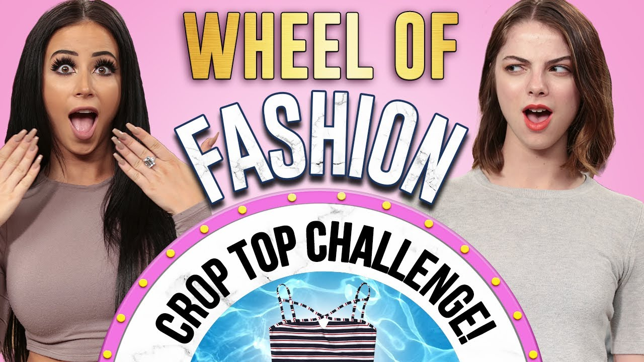 CROP TOP CHALLENGE?! Wheel of Fashion w/ Amber Scholl & Allie Marie Evans