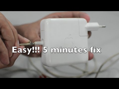 01. Macbook power adapter 5 minutes fix Without opening charger (MagSafe) easy repair