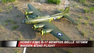 HobbyKing B17 Memphis Belle 1875mm Bomber - Maiden Flights