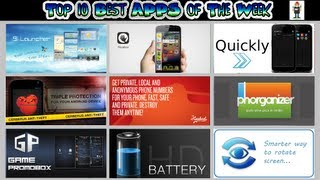 #190 APPS - Best Apps of The Week - Top 10 - Battery Smart Promo