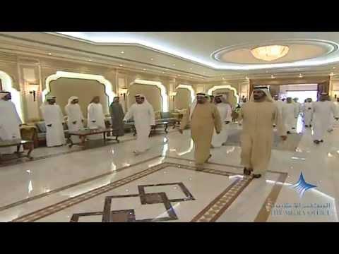 محمد بن راشد يعزي حاكم عجمان في وفاة شقيقه