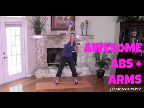 Abs, Arm Flab, Full Length Toning And Fat Burning Workout: Awesome Abs And Arms video