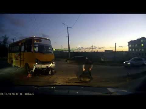 ДТП с мотоциклистом. Севастополь 19.11.2015 г.