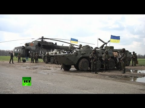 Video: Troops, military vehicles in eastern Ukraine as Kiev launches 'anti-terror op' klip izle