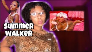 Summer walker - playing games music video//Reaction