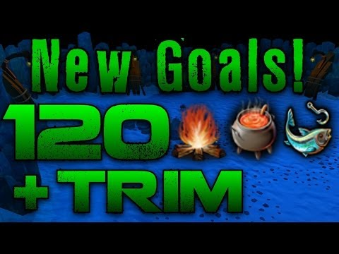 Runescape 3 – New Goals! 120 FM, Cook & Fishing! + Trimmed Comp? – Completition