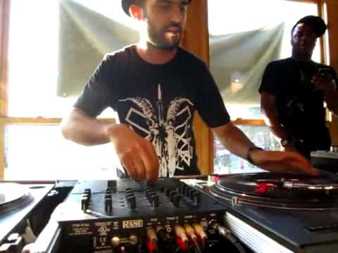 A-Trak on the 1's and 2's (Part 1 of 2) @ Fat Beats, NYC (The Final Day)
