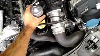 Easy Engine Oil Change - Mercedes C Class w203 220 CDI Diesel - 9/13