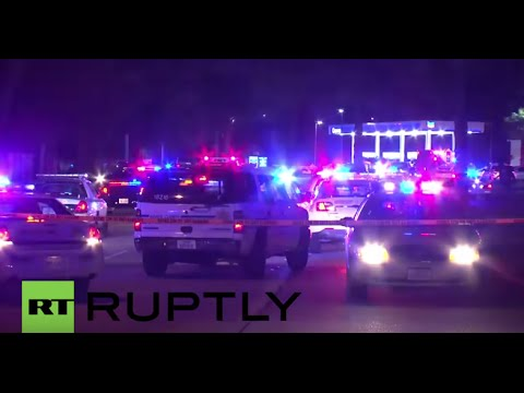 USA: Houston police officer shot and killed at petrol station