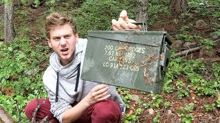 MYSTERIOUS BOX IN THE WOODS!