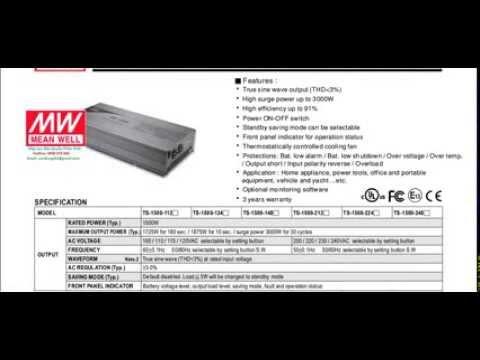 Nguồn Xạc Mean Well,  TS-1500-212, TS-1500-224, TS-1500-248,TS-1500-112,TS-1500-124, TS-1500-148,