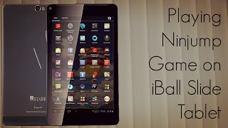 Playing Ninjump Game on iBall Slide Tablet - Performance Review