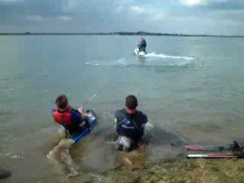 kneeboarding 2 people Video