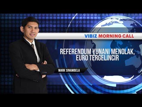 Referendum Yunani Menolak, Euro Tergelincir, Vibiznews 6 Juli 2015