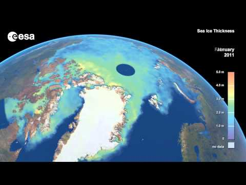 Arctic Sea-Ice Continues To Thin | 3-Year Time-Lapse