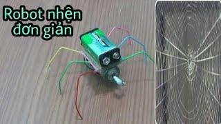 cách làm Robot nhện cực đơn giản với mô tơ 3v [choidehoc]