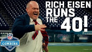 Rich Eisen Runs the 40 & Simulcams vs. Top Combine Performers | 2019 NFL Scouting Combine Highlights