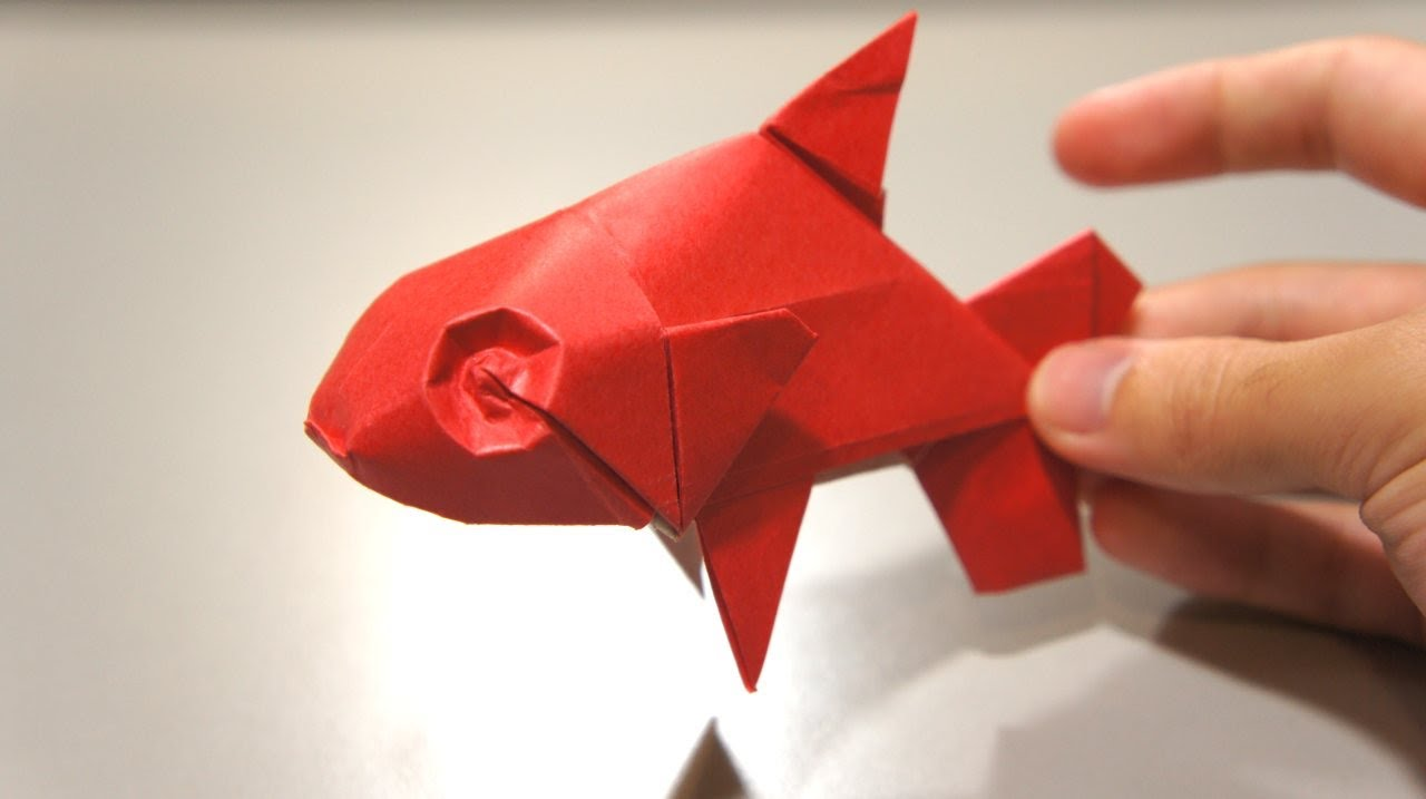 Origami fish davor vinko youtube for How to fish