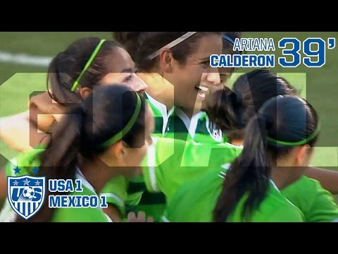 WNT vs. Mexico: Ariana Calderon Goal - May 17, 2015