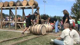 Heaven Hill Distilleries Men's Barrel Rolling Team 2011 ~ World Champions 6 years in a row!