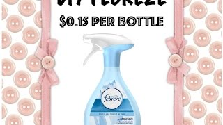 2 MINUTE DIY: Homemade FEBREZE