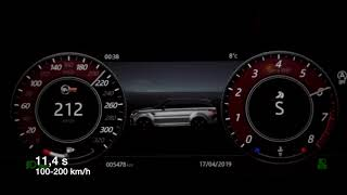 2018 Range Rover Sport SVR hard acceleration, sound and top speed 0-100 kmh
