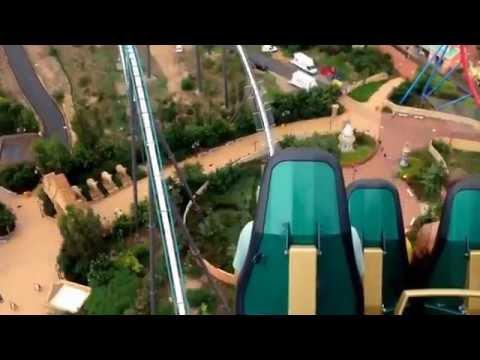 Shambala Port Aventura roller coaster
