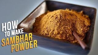 How To Make Sambhar Powder | Homemade Sambhar Masala Recipe By Smita Deo | Basic Cooking