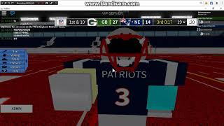 About 46 seconds remaining. New england patriots vs green bay packers (Mr_erty vs Zach) pt2