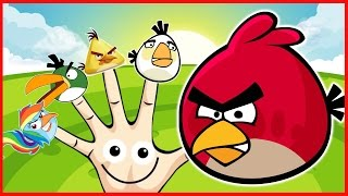Peppa Pig Finger Family Angry Bird Nursery Rhymes For Children Lyrics Kids Songs and More!!!