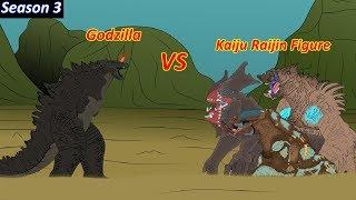 GODZILLA 3: Godzilla vs Monster Kaiju Raijin - Funny Cartoon Animation