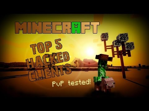TOP 5 Minecraft Hacked Clients 2014 ! - PVP SLAYING [HD]