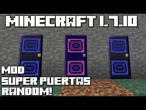 Minecraft 1.7.10 MOD SUPER PUERTAS RANDOM!