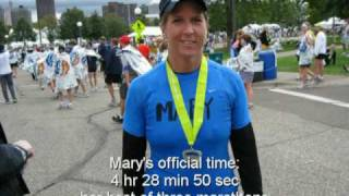 Mary Finishes Twin Cities Marathon - October 4, 2009