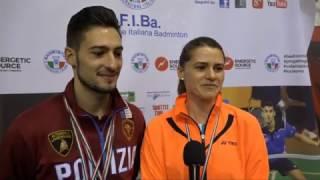 CAMPIONATI ITALIANI ASSOLUTI 2017 - IL COMMENTO DEI VINCITORI: ROSARIO MADDALONI E GLORIA PIRVANESCU