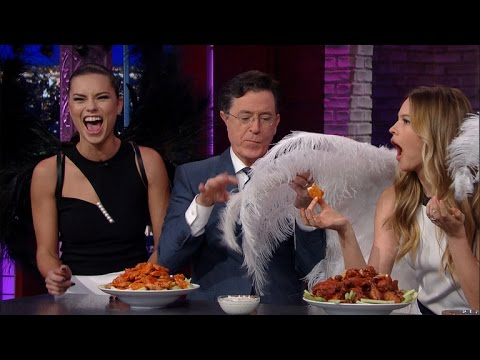 The Victoria's Secret Angels Stop By For A Quick Nosh
