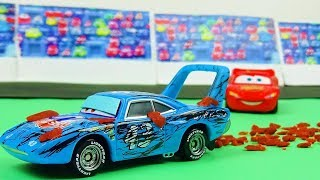 Cars 1 Final Race Scene Remake! The King Crash! Stop Motion Animation | just an empty cup
