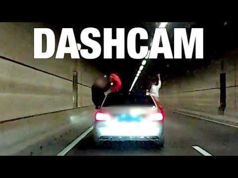 Bizar feestje op snelweg - DASHCAM