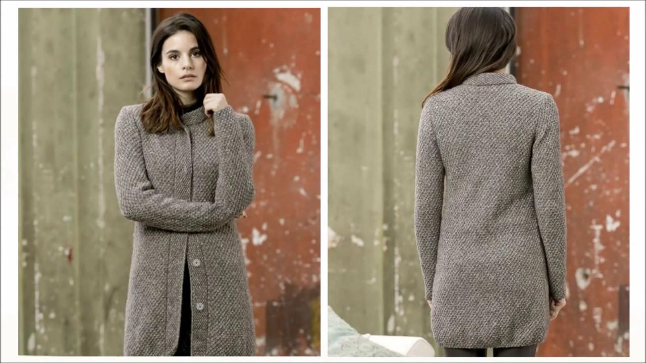 Вязание пальто спицами ютуб 17