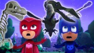 PJ Masks em Português O Mundo dos Dinossauros 🦎Compilação de episódios | Desenhos Animados