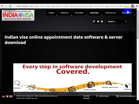 indian visa online appointment date software & server (indian visa etoken software) download & setup