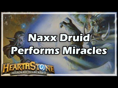 [Hearthstone] Naxx Druid Performs Miracles
