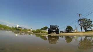 Jeep Wrangler Driving over my GoPro