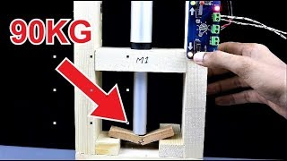 How to Make 12V Mini Electronic Press Machine - Hydraulic Press