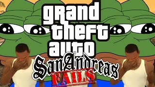 GTA San Andreas Speedrunning FAILS and FUNNY MOMENTS!