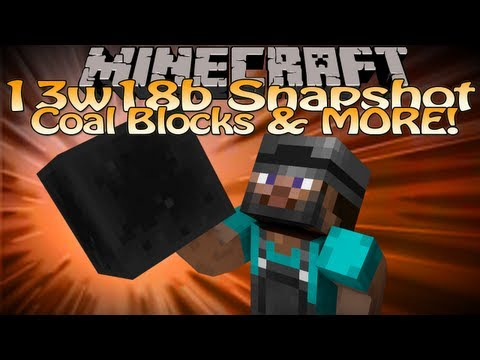 Minecraft 13w18b Snapshot Update (Minecraft 1.6) - Coal Blocks. Hay & Lead Recipes & MORE!